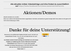 """""""Österreich ist frei"""" sammelt Spenden"""