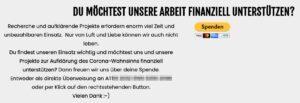 """Spenden """"Österreich ist frei"""": """"Nur von Luft und Liebe können wir auch nicht leben."""""""