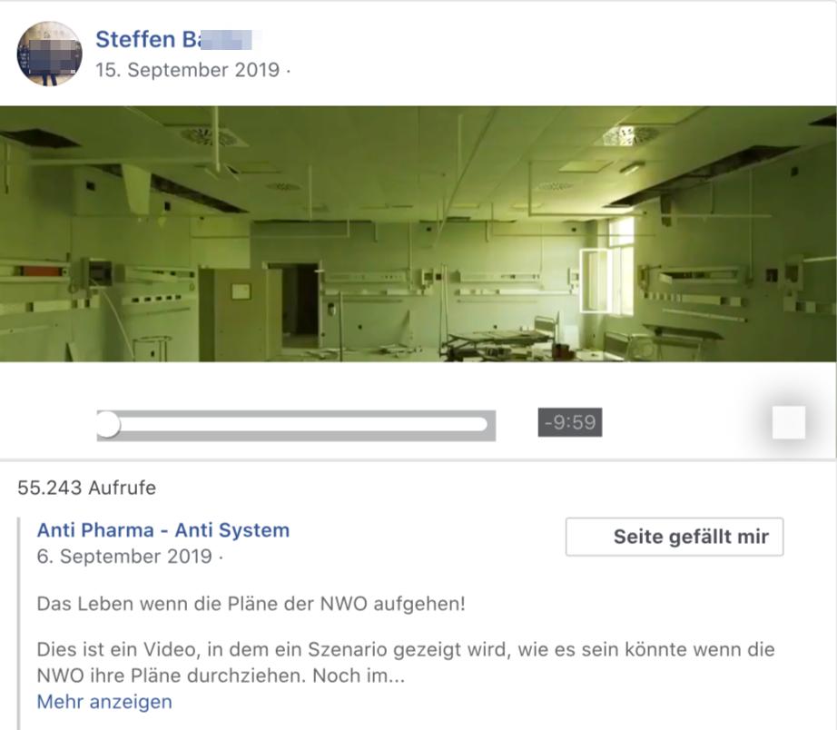 """Steffen B.: """"Anti Pharma - Anti System"""" """"Das Leben wenn die Pläne der NWO [Neue Weltordnung] aufgehen!"""""""