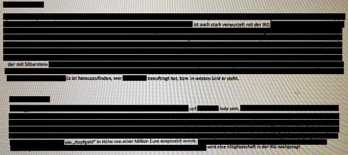 Aus dem Ibiza-Dossier über angebliche Hintermänner: verwurzelt in der IKG, Silberstein, soll Jude sein, Kopfgeld ...