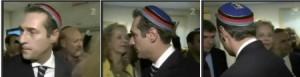 Strache mit Biertonne der Burschenschafter in Yad Vashem
