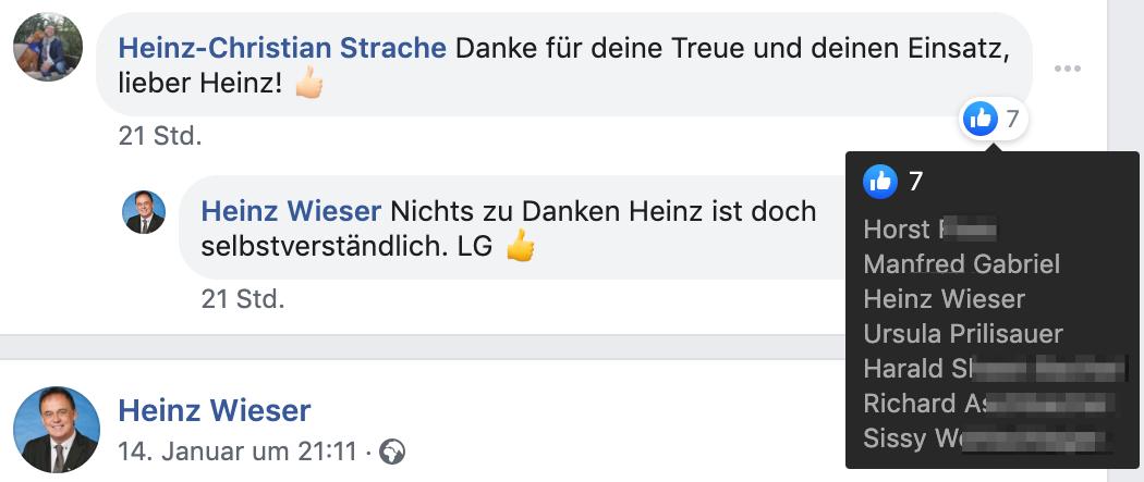 HC Strache dankt Heinz Wieser für seine Treue