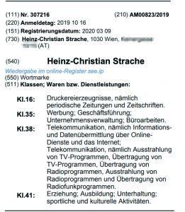 "Wortmarke ""Heinz-Christian Strache"""