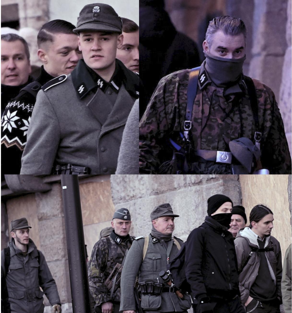"""""""Tag der Ehre"""" Budapest 2020 SS-Runen (Fotos: recherche-nord.com)"""
