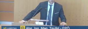 Reinhard Teufel im niederösterr. Landtag