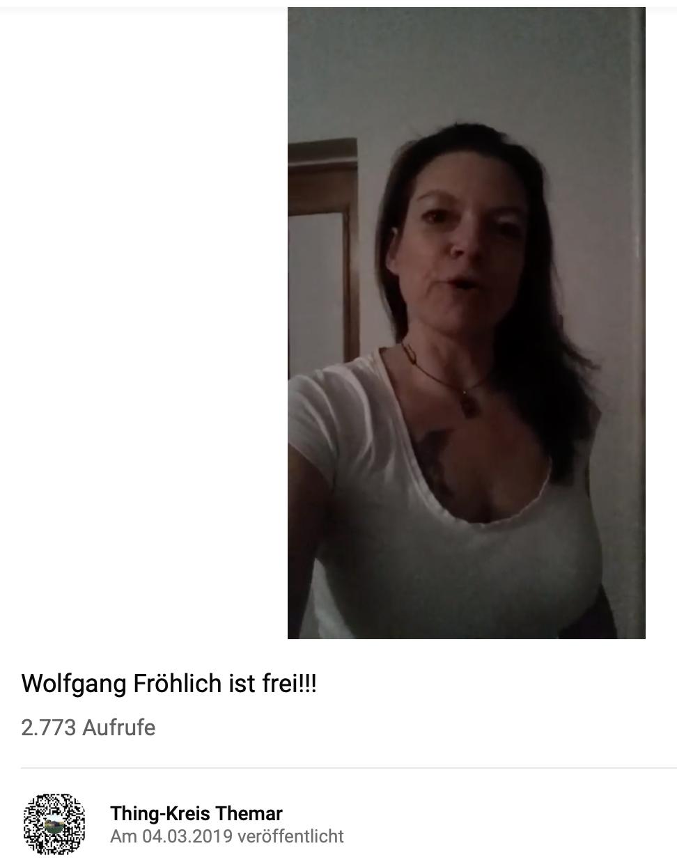 """Videobotschaft """"Thing-Kreis Themar"""" zu Fröhlichs Freilassung"""