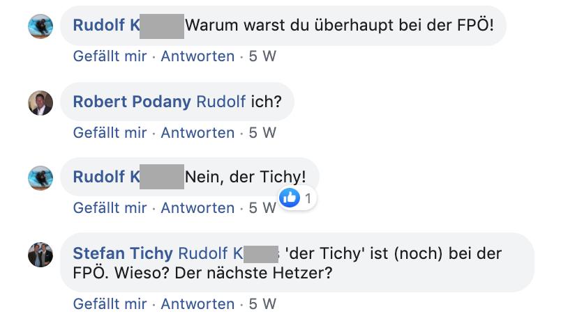 Tichy ist noch bei der FPÖ
