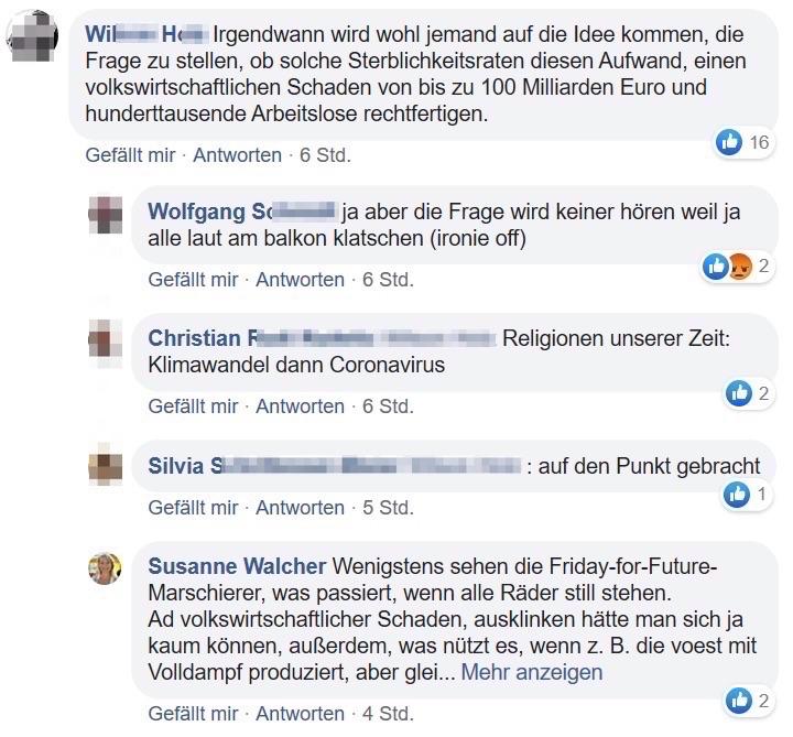 FB-Kommentar W.H. und Reaktionen