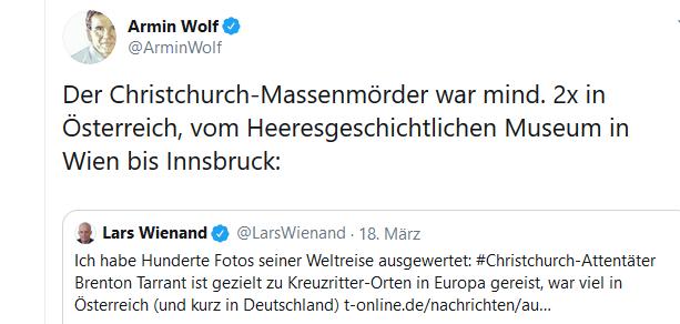 Christchurch-Attentäter in Österreich
