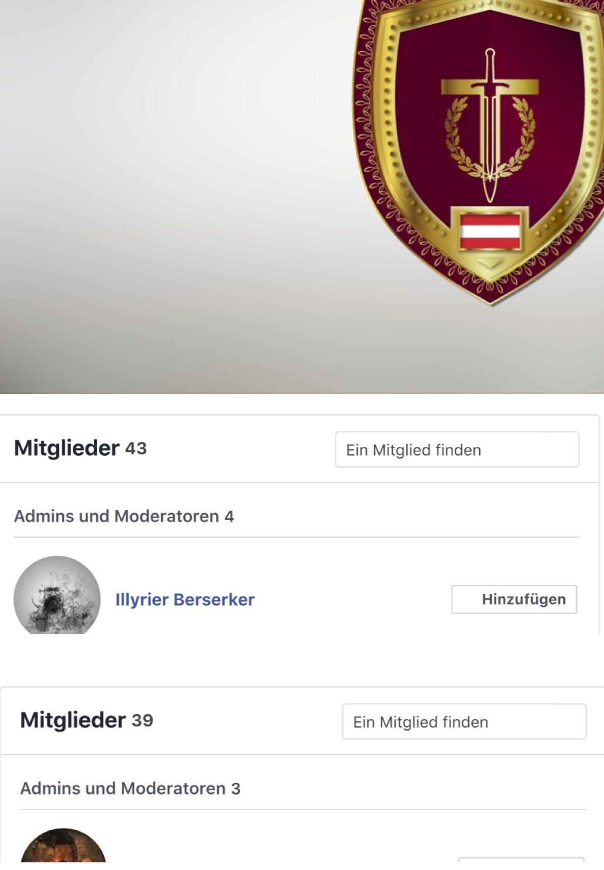 """Reduktion der Admins und Mitglieder der FB-Gruppe """"UNITER Grand District Austria"""""""