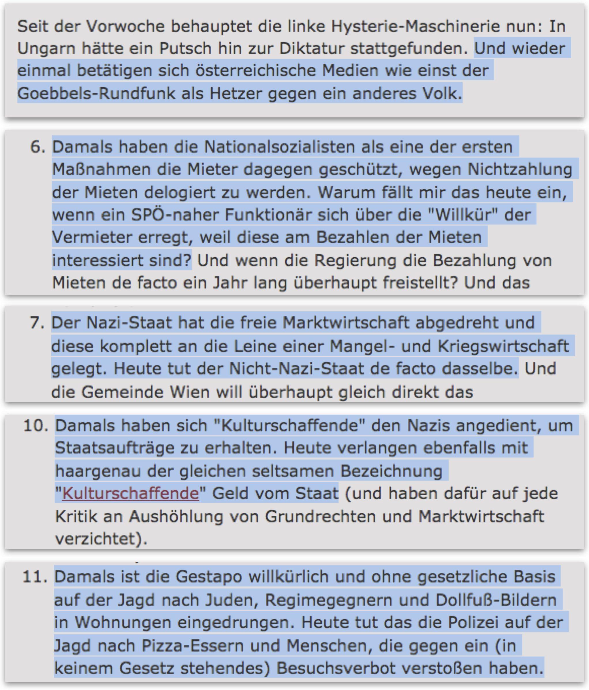 Unterbergers NS-Vergleiche