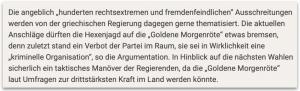 """""""unzensuriert"""" über """"Golden Dawn"""" am 3.11.2013"""