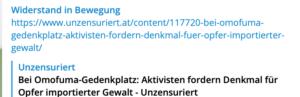 """Identitärer Account """"Widerstand in Bewegung"""" teilt Progandaartikel von """"unzensuriert"""""""
