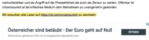 unzensuriert fordert auf, auf vk.com zu wechseln (Screenshot 26.9.18)