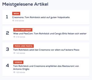 "Meistgelesene Artikel auf ""Verona prima"": Rohrböck, Rohrböck, Rohrböck ..."