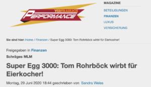 """Die Eierkocher des Tom Rohrböck (Quelle: Rohrböck-nahes Medium """"Vertraulich Performance"""")"""