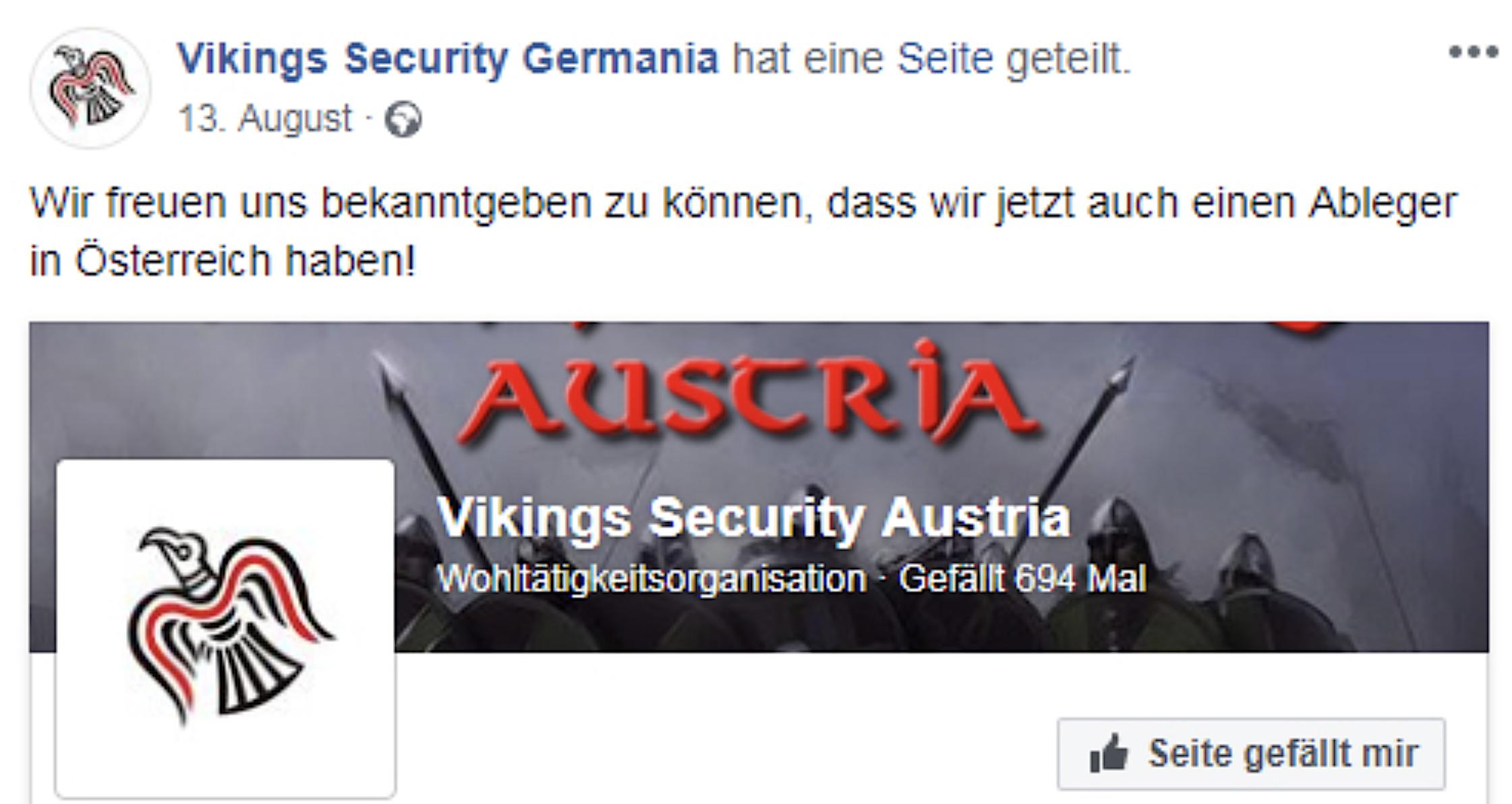 Vikings Security Germania gibt die Gründung eines Ablegers in Österreich bekannt