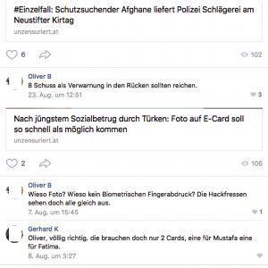 vk.com: Mordphantasien und Hasskommentare