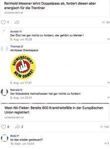 vk.com: Hasskommentare gegen Reinhold Messner und Verschwörungstheorien