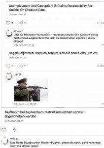 vk.com: Hasskommentare und Mordphantasien