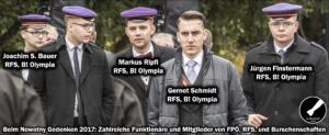 Nowotny-Gedenken 2017: Bauer, Ripfl, Schmidt, Finstermann (Foto Rechtsdrall)