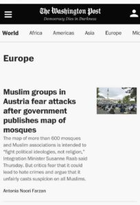 Washington Post zur Islamlandkarte