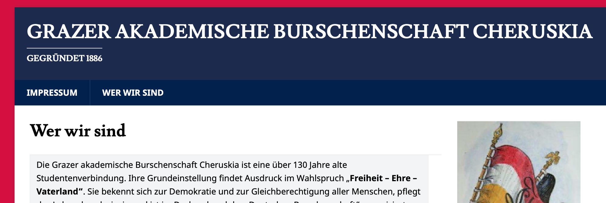 Die schlank gehaltene Cherusker-Website 2019