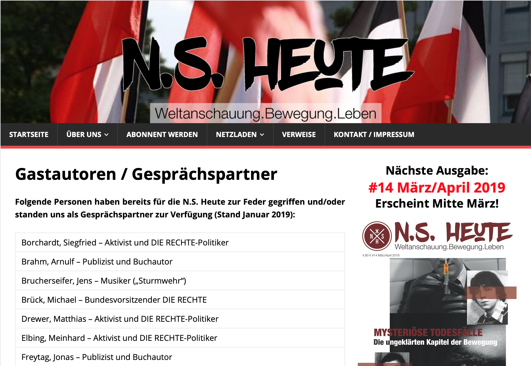 Website N.S. Heute