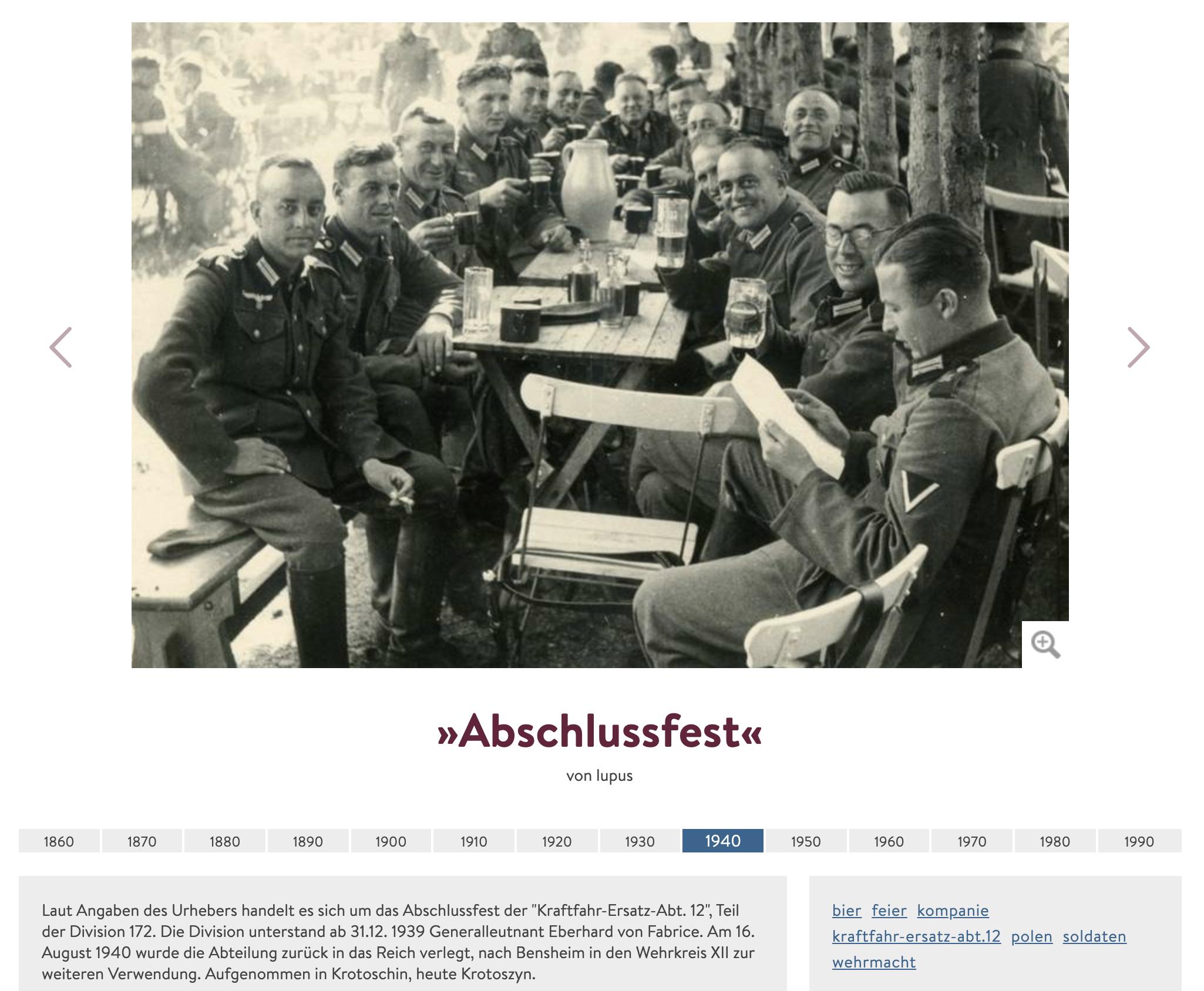 """Wehrmachtsfoto für Olympia-Einladung (aus dem Projekt """"Digit"""" des WDR – ob die Angaben zum Foto stimmen, kann nicht überprüft werden)"""