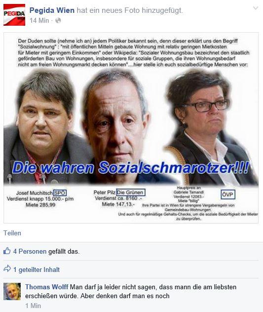 Wolff will Muchitsch, Pilz und Tamandl am liebsten erschießen (Screenshot 2015 via FPÖ Fails)