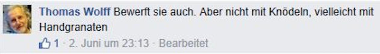 Wolff will Asylwerber mit Handgranaten bewerfen (Screenshot 2015 via FPÖ Fails)