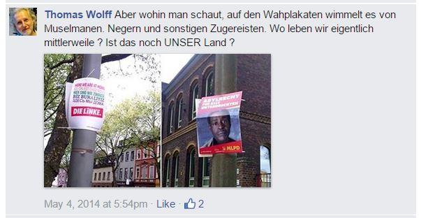 Wolff als Rassist – zugereiste Muselmanen, Neger (Screenshot 2015 via FPÖ Fails)