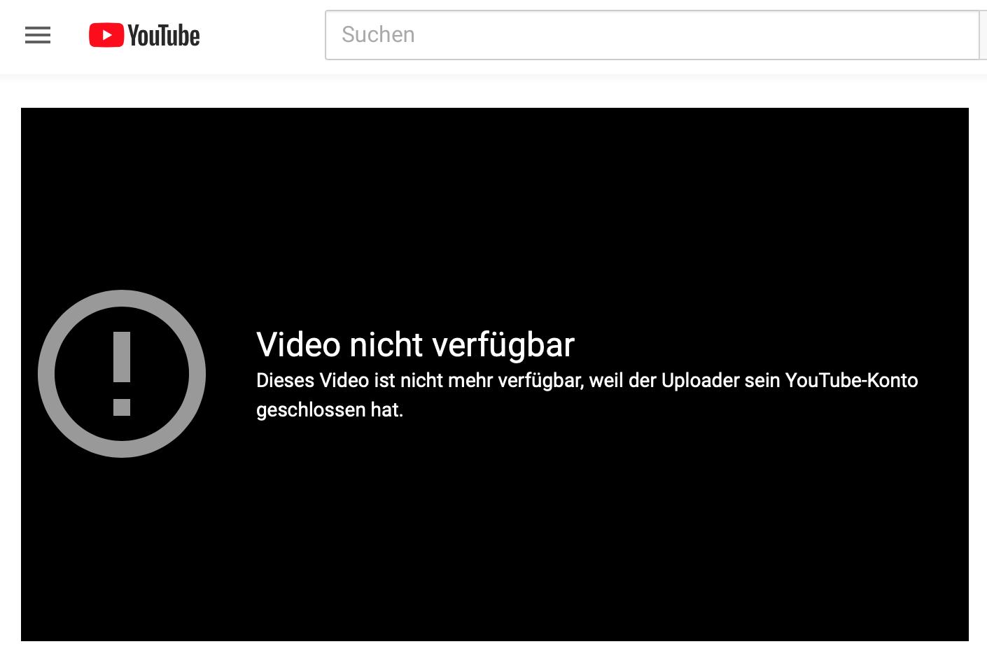 Youtube-Account von Lemisch geschlossen (25.4.19)
