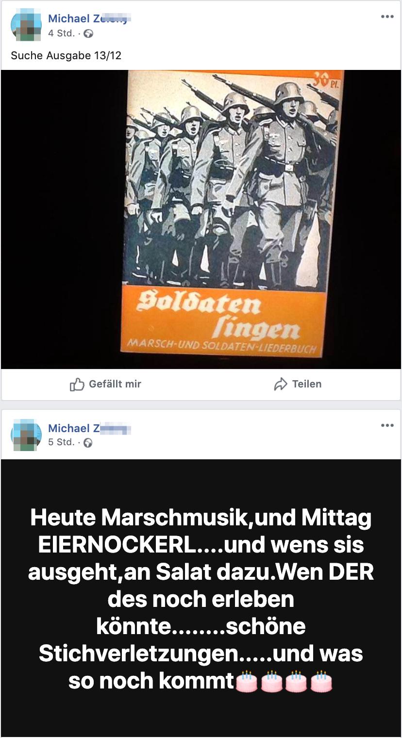 """Michael Z. """"Heute Marschmusik,und Mittag Eiernockerl"""""""