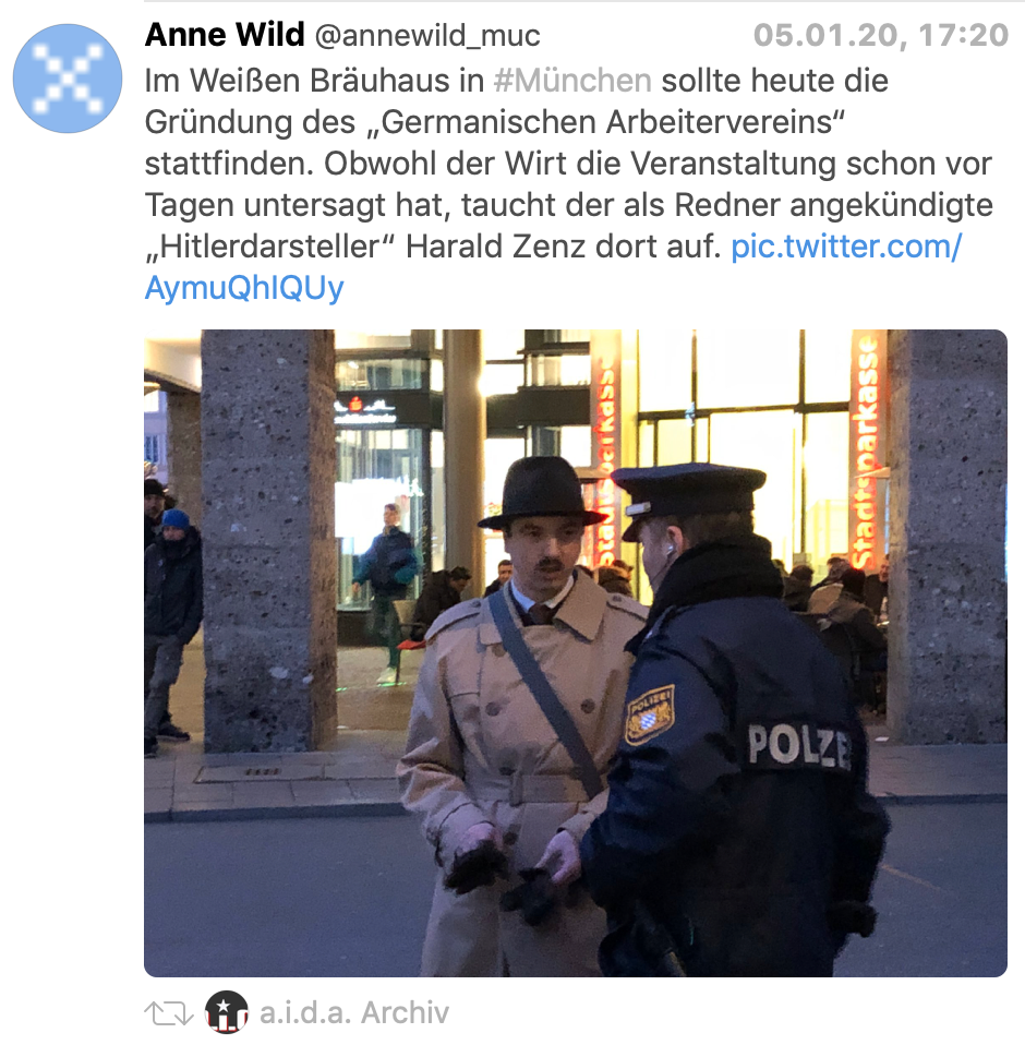 """Harald Hitler"" in München"