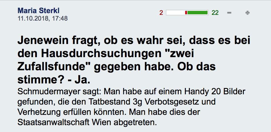 """""""Zufallsfunde"""" bei BVT-Hausdurchsuchungen (https://derstandard.at/jetzt/livebericht/2000089090991/1000132227)"""