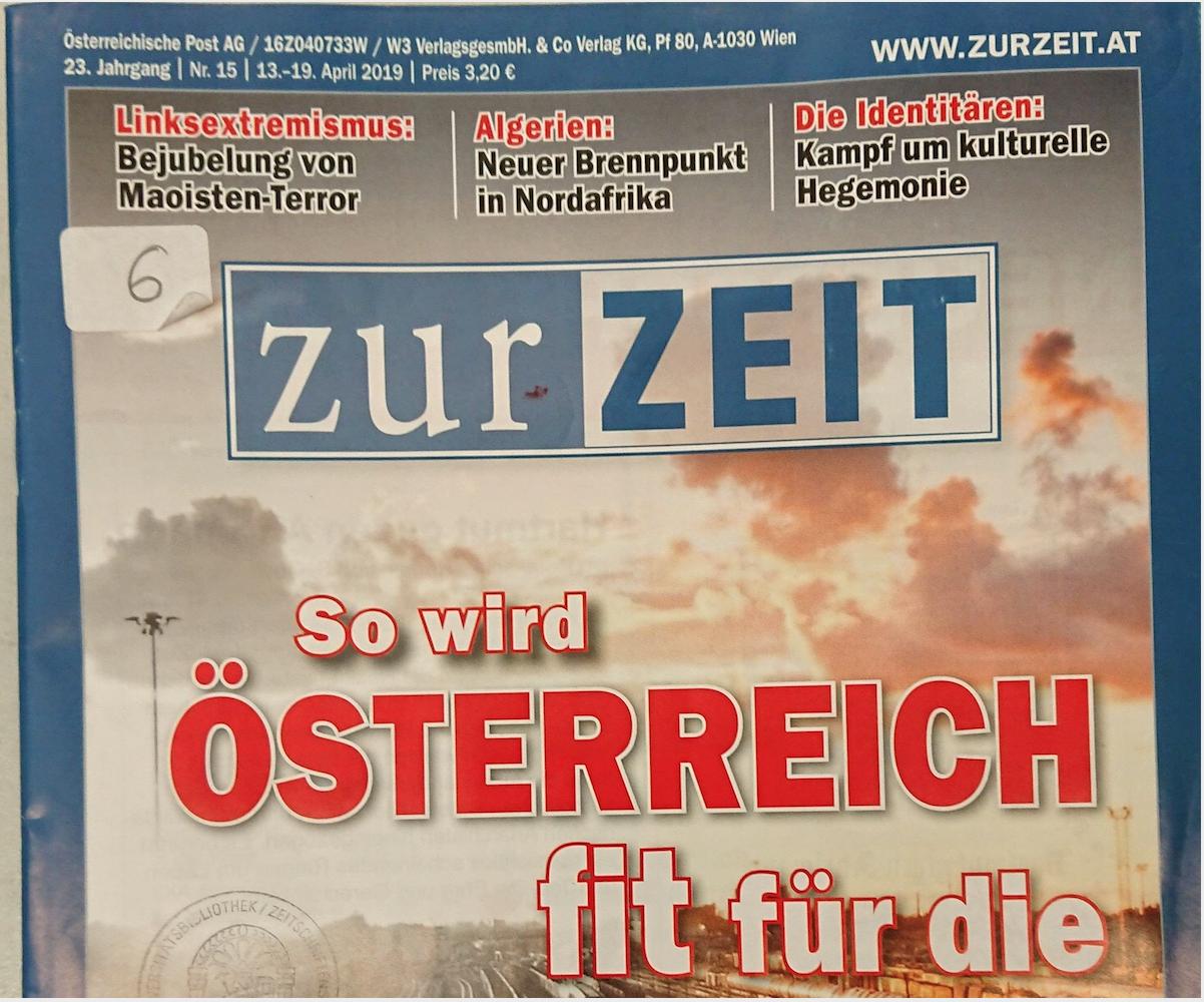 """Cover Zur Zeit 15/2019: Während ZZ dem Massenmörder Antonescu huldigt, erregt sich """"Zur Zeit"""", dass Linksextreme den """"Maoisten-Terror"""" bejubeln würden"""