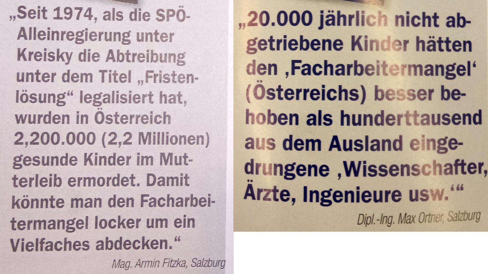"""""""Zur Zeit"""" 40/18 (links) und 47/18 (rechts)"""